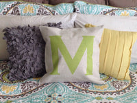 Custom Monogram Pillow Cover (Style:Simplistic) 43 color options