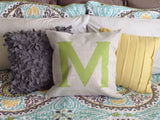 Custom Monogram Pillow Cover (Style: Hampton) 43 Color options