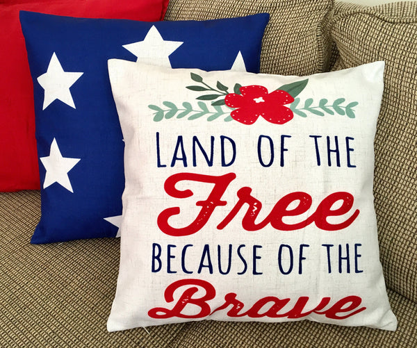 Land of the Free - pillow cover