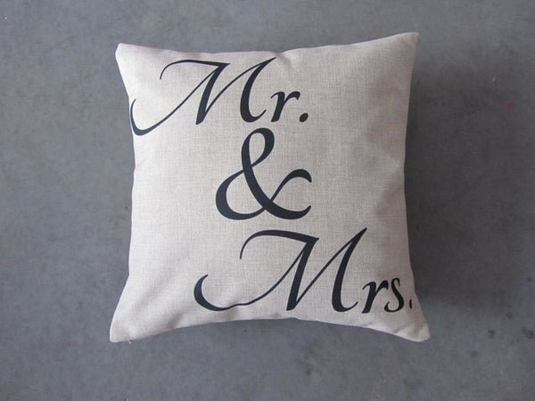 Mr. and Mrs. - pillow cover
