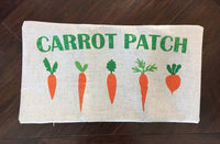 Carrot Patch - pillow cover
