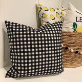 Small Black Check - pillow cover