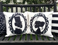 Gentleman Skeleton Silhouette - pillow cover