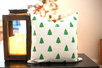 Green Tree Pattern - pillow cover