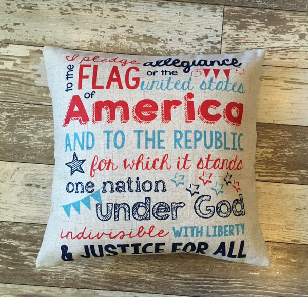 I Pledge Allegiance - pillow cover