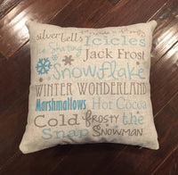 Winter Subway Art - pillow cover