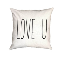 LOVE U - pillow cover (Rae Dunn)