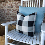 Black & Grey Buffalo Check - pillow cover