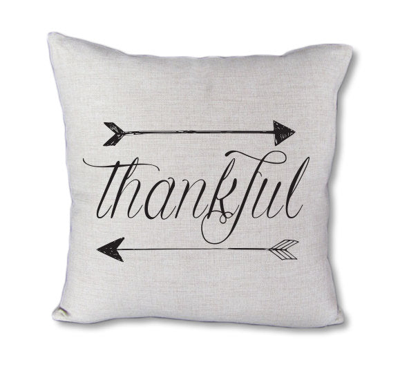 Thankful pillow - pillow cover