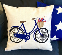 Blue Bicycle - pillow cover