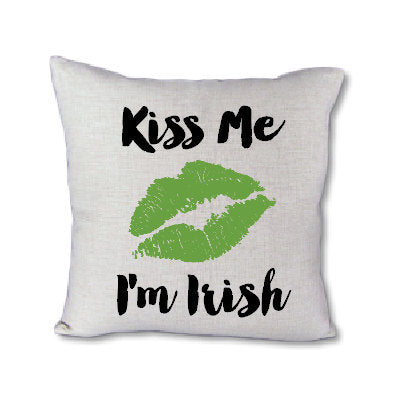 Kiss Me I'm Irish - Pillow cover
