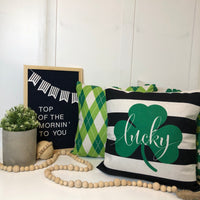 St. Pats Argyle - pillow cover