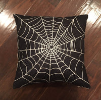 Black Spider Web - Haloween pillow cover