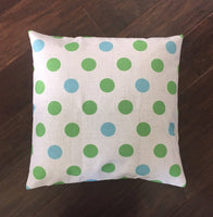 Green and Blue Dot - pillow cover