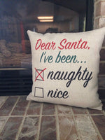 Naughty or Nice (Nice) - pillow cover