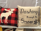 Plaid Moose - pillow cover