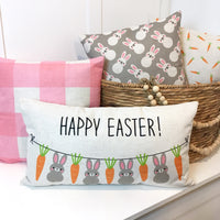 Happy Easter Banner - pillow cover