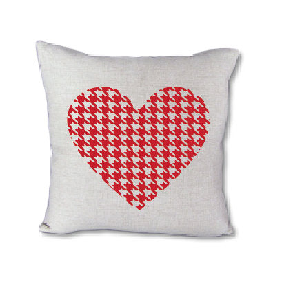 Houndstooth Heart - pillow cover