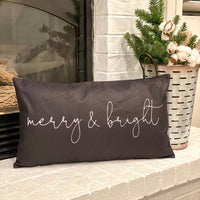 Merry & Bright - pillow cover