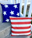 Dark Blue Stars - pillow cover