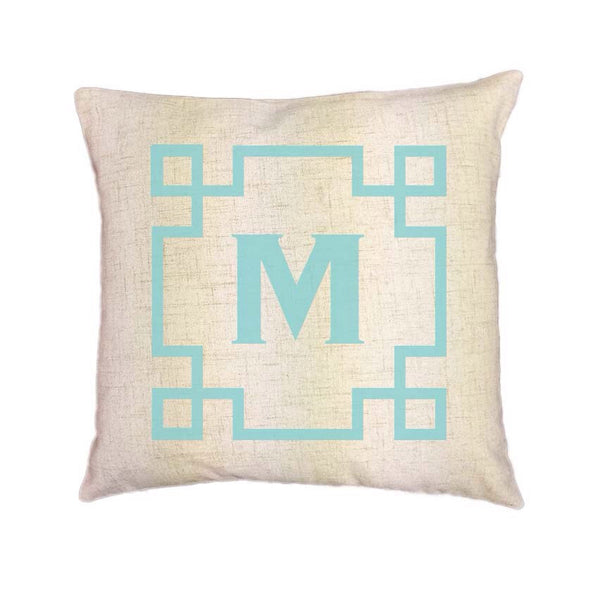 Custom Monogram Pillow Cover (Style: Aztec) 43 color options