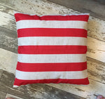 Red Stripe - pillow cover