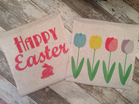 Happy Easter Bunny - pillow cover