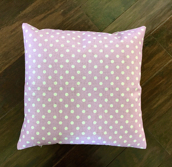 Purple Polka Dot - pillow cover