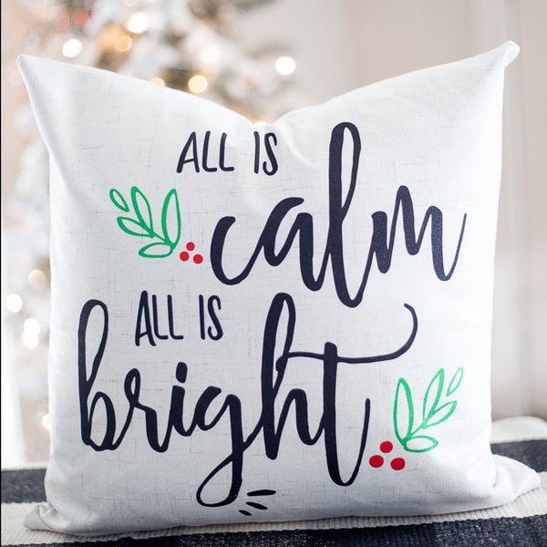 All is Calm - pillow cover