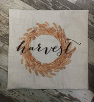 Harvest Wreath - pillow cover