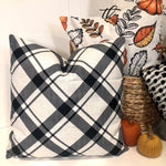 Black & White Plaid - pillow cover