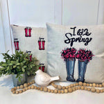 I Love Spring Boots - pillow cover