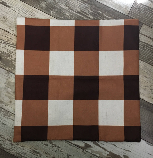 Brown Checkered - pillow cover