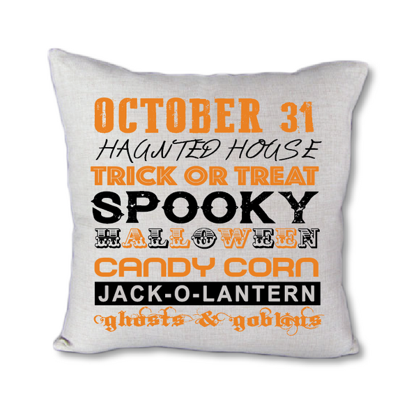 Halloween Words - Pillow Cover