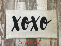 XOXO Elongated - Pillow Cover