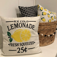 Ice Cold Lemonade - pillow cover