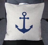 Blue Anchor - pillow cover
