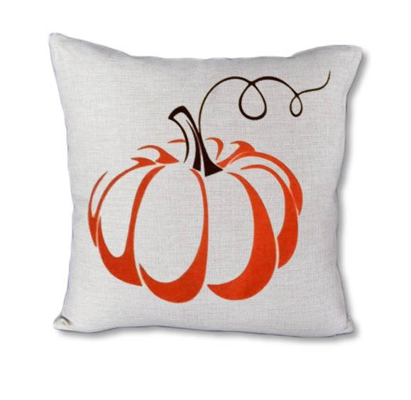 Pumpkin on Vine - pillow cover