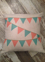 Coral Pennant - pillow cover