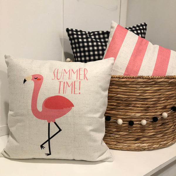 Flamingo - pillow cover