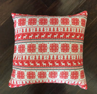 Red Sweater Print - pillow cover