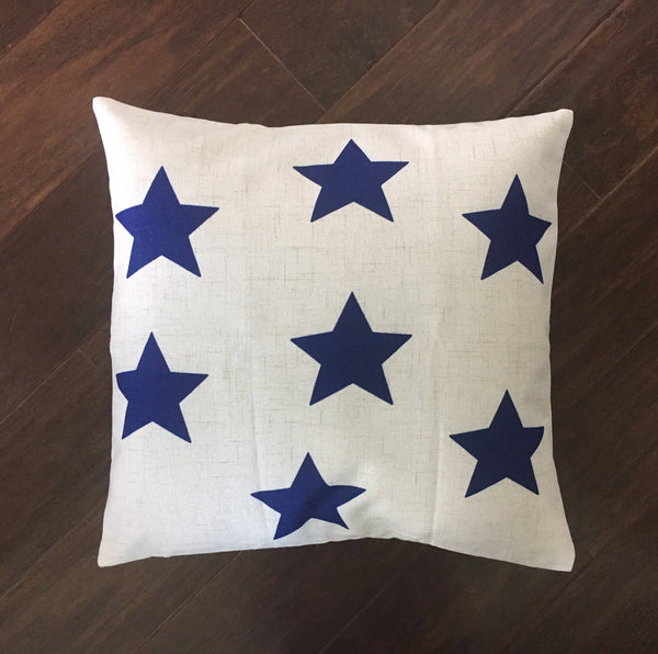Blue Stars - pillow cover