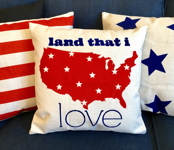 Land that I Love - pillow cover