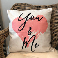 You & Me - pillow cover