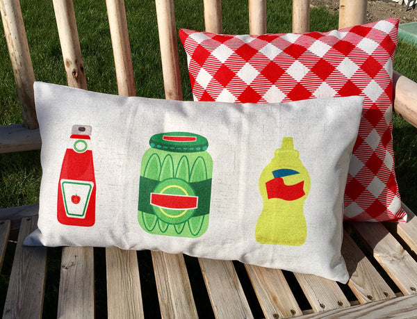 Condiments - pillow cover