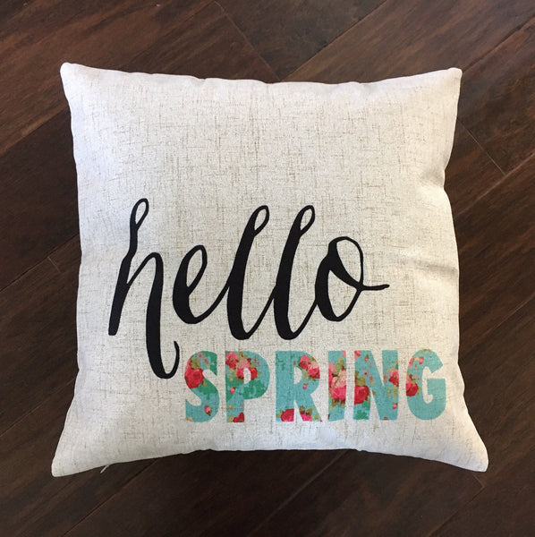 Hello Spring Floral - pillow cover