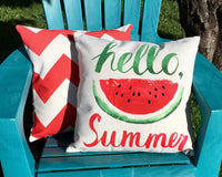 Hello Summer Watermelon - pillow cover