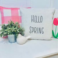 Hello Spring Rae Dunn Inspired - pillow cover