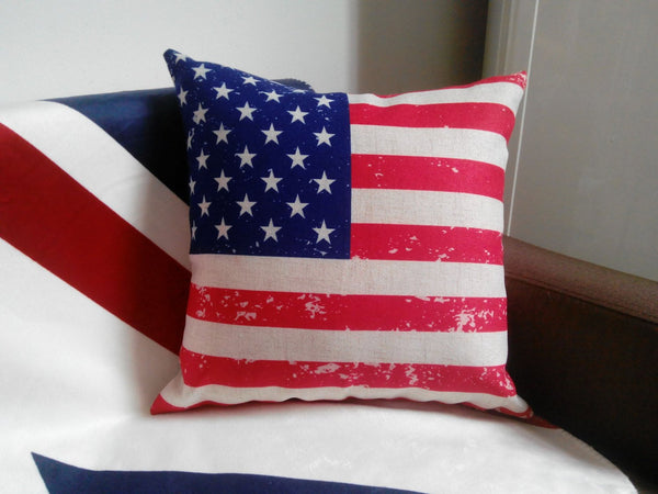 USA Flag Patriotic - pillow cover