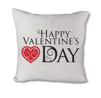Happy Valentines Day Swirl - pillow cover